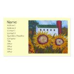 Yellow Sunflowers and Barn Business Card