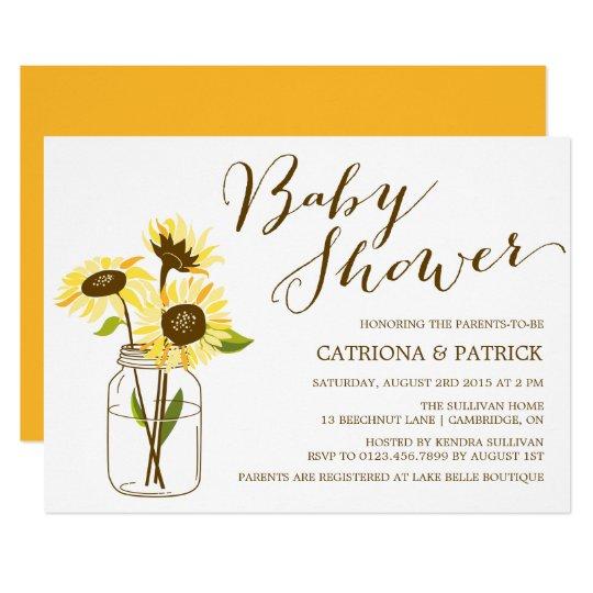 Yellow sunflowers baby shower invitation zazzle yellow sunflowers baby shower invitation filmwisefo