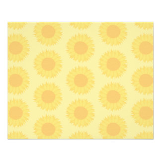 Yellow Sunflowers Background Pattern Full Color Flyer