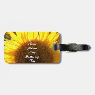 Yellow Sunflowers Bag Tags
