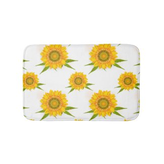 Yellow Sunflowers Bathmat