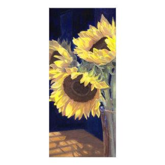 Yellow Sunflowers Bookmark Custom Rack Cards
