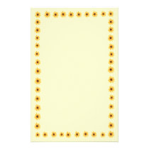 Yellow Sunflowers Border Stationery