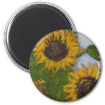 Yellow Sunflowers by Paris Wyatt Llanso Refrigerator Magnets