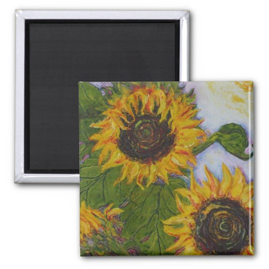 Yellow Sunflowers by Paris Wyatt Llanso Magnet
