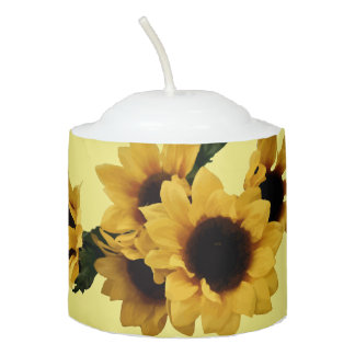 Yellow Sunflowers Candle Votive Candle