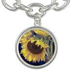 Yellow Sunflowers Charm Bracelet