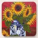 Yellow Sunflowers Coaster