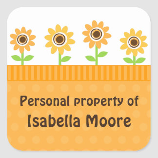 Yellow sunflowers cute property stickers