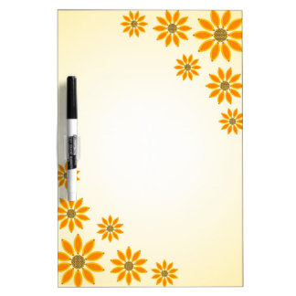 Yellow Sunflowers Dry-Erase Boards