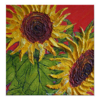 Yellow Sunflowers Fine Art Poster