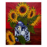 Yellow Sunflowers Fine Art Poster