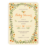 Yellow Sunflowers Floral Baby Shower Invitations