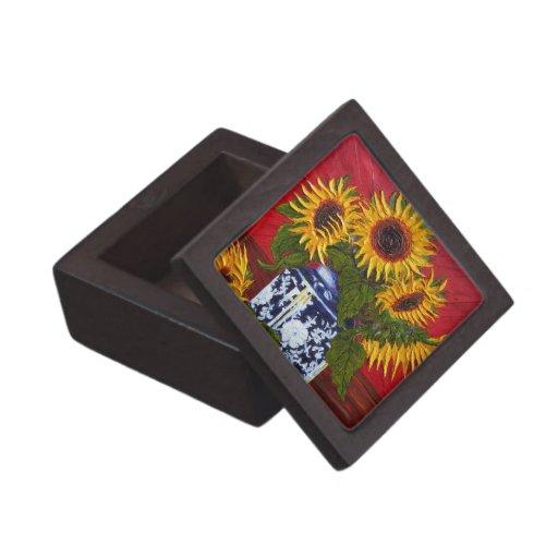 Yellow Sunflowers Gift Box Premium Gift Boxes