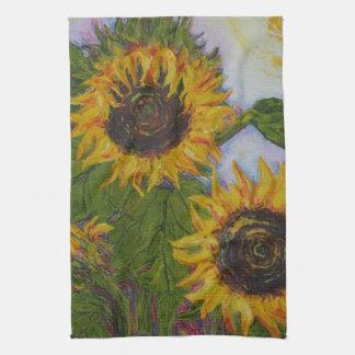 Yellow Sunflowers Hand Towel