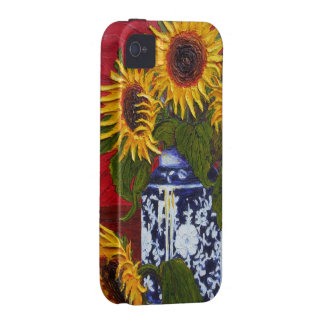 Yellow Sunflowers in Vase iPhone 4 Case