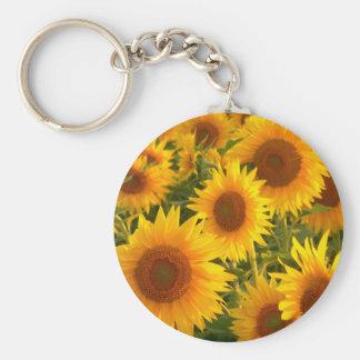 Yellow sunflowers keychain