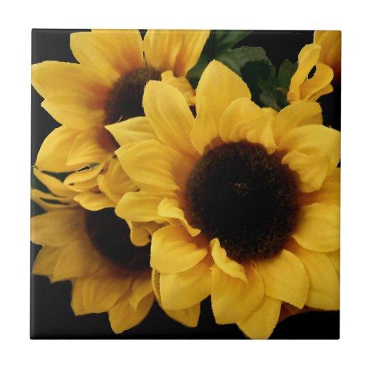 Sunflower Yellow Kitchen: Yellow Sunflowers Kitchen Decor Tile