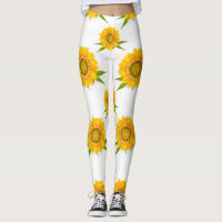 Yellow Sunflowers Leggings