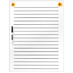 Yellow Sunflowers Lined Dry Erase Board at Zazzle