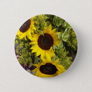 Yellow Sunflowers Pinback Button