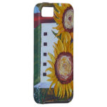 Yellow Sunflowers & Red Silo iPhone 5 Case