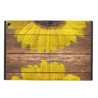 Yellow Sunflowers Rustic Vintage Brown Wood Powis iPad Air 2 Case