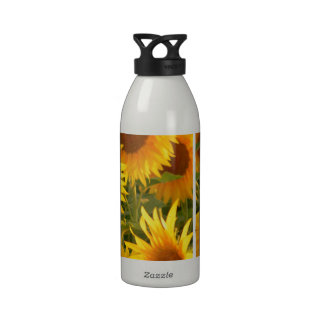 Yellow Sunflowers Reusable Water Bottle