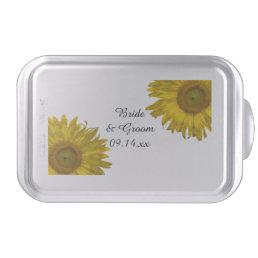 Yellow Sunflowers Wedding Cake Pan