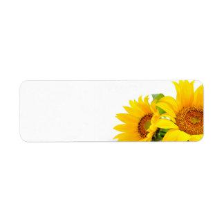Yellow Sunflowers Wedding or General Blank Address Label