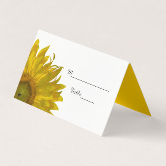 Yellow Sunflowers Wedding Place Card