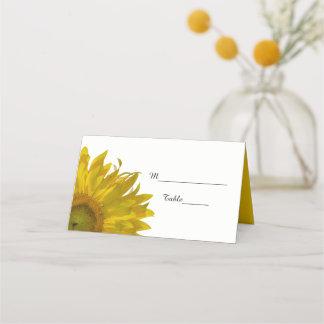 Yellow Sunflowers Wedding Place Card