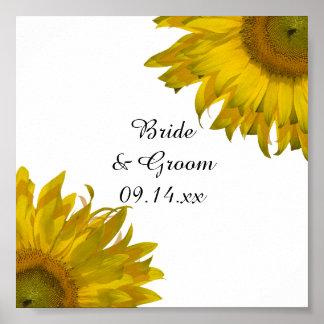 Yellow Sunflowers Wedding Poster