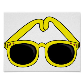 Yellow Sunglasses Poster