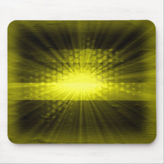 Yellow sunlight over polka dot mouse pad