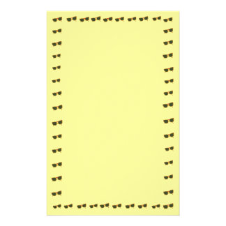 Yellow Sunny Sunglasses Border on Stationery