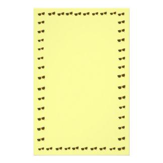 Yellow Sunny Sunglasses Border on Stationery