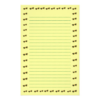 Yellow Sunny Sunglasses Lined Stationery