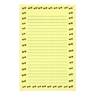 Yellow Sunny Sunglasses Lined Stationery