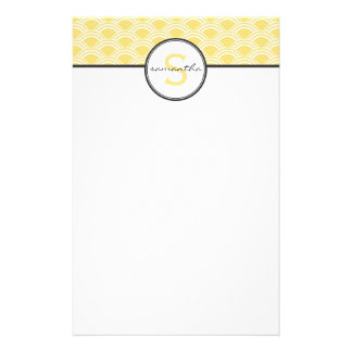 Yellow Sunrise Personalized Stationery