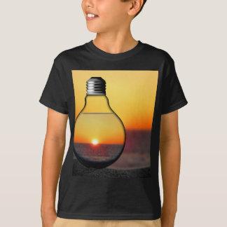 Yellow Sunrise Through a Lightbulb Modern Energy C T-Shirt