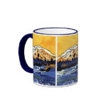 Yellow Sunset Ringer Coffee Mug