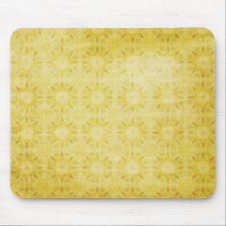 Yellow Sunshine Pattern Background Mouse Pad