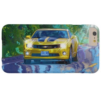 Yellow Superfast Sports Car Cell Phone Case