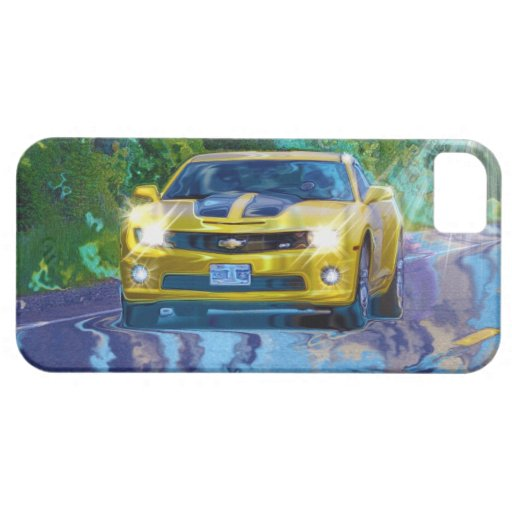 Yellow Superfast Sports Car iPhone 5 Case