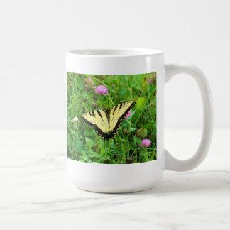 Yellow Swallowtail Butterfly Classic White Coffee Mug