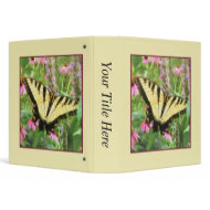 Yellow Swallowtail Butterfly in Summer Garden binder