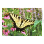Yellow Swallowtail Butterfly in Summer Garden Cards