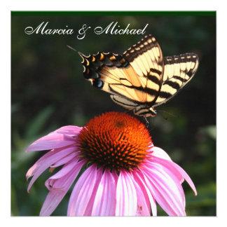Yellow Swallowtail Butterfly invitation
