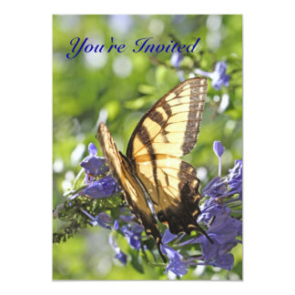 Yellow Swallowtail Butterfly Invitation